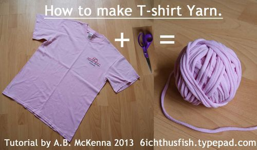 How to Make T-shirt Yarn...Step-by-Step You can see a video http://www ...