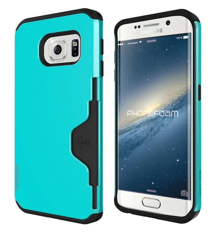Samsung Galaxy S6 Edge Official Protector Case Practical Cover Blue PC Card Case #PhoneFoam