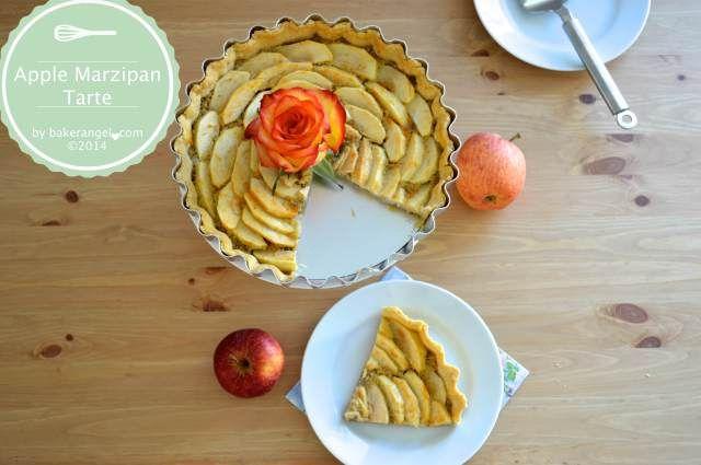 Apple Marzipan Tarte with Almond Cream by bakerangel.com