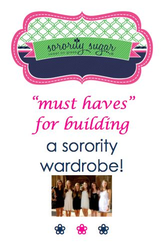 Sorority life is all about being sociable! Greek girls need fashions for many different occasions. Build a solid sorority wardrobe with these top tips on what you need for an active greek life!