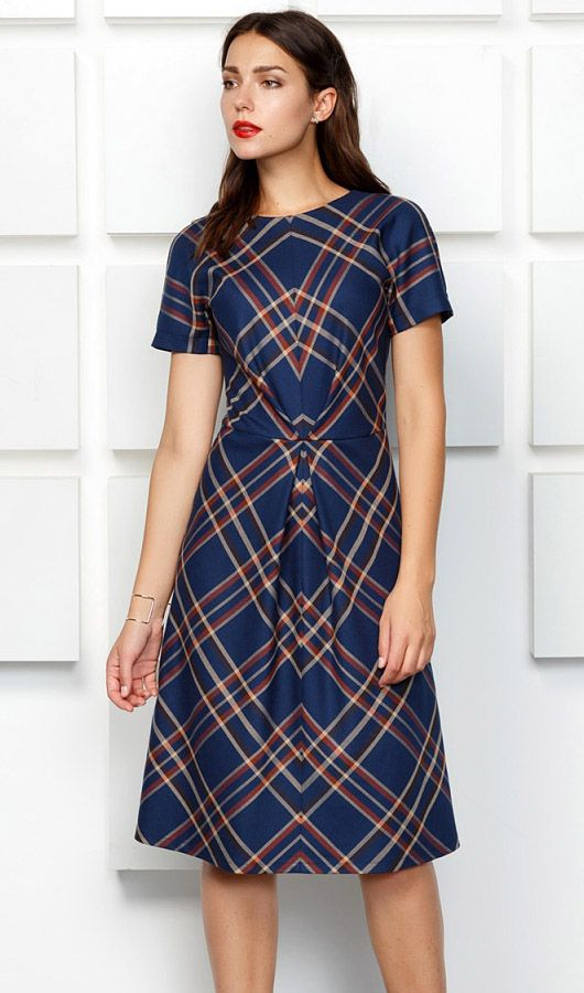 The miracle of matching seams for great plaid dresses.