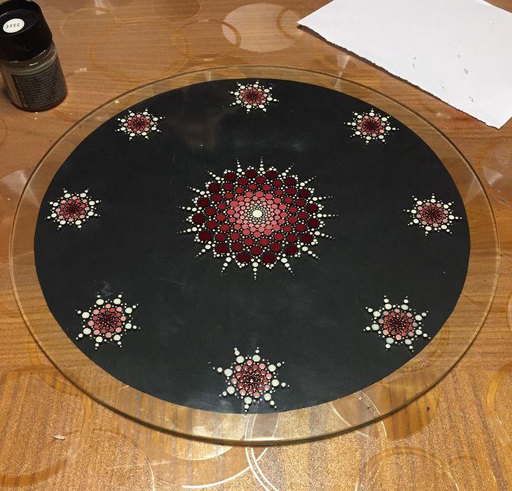 Mandala su vetro (diam. 35 cm)