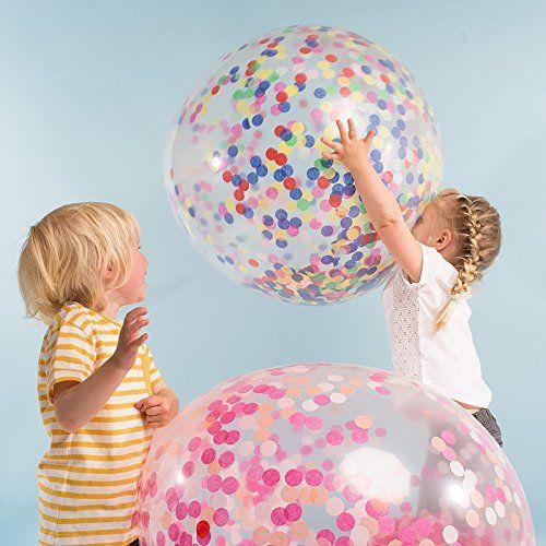 Confetti balloons in rare colors