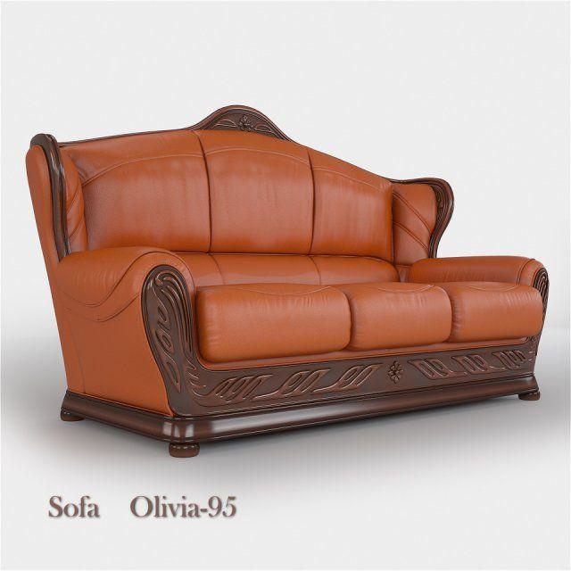 Leather sofa Olivia A-95 3-set 3D Model .max .c4d .obj .3ds .fbx .lwo .stl @3DExport.com by viiik33