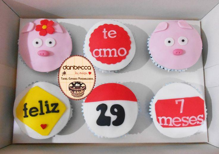 """Cupcakes """"Te Amo"""""""