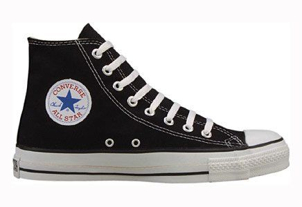 Converse Chuck Taylor All Star Hi Top Black Canvas with Extra Pair of Black Laces men's 4/ women's 6 Converse,http://www.amazon.com/dp/B008E016W4/ref=cm_sw_r_pi_dp_mMutsb0FS9CKFHHJ