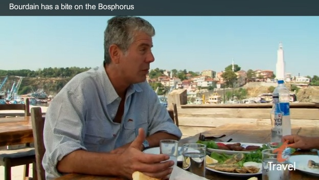 Anthony Bourdain / No Reservation food show host, http://www.travelchannel.com/tv-shows/anthony-bourdain, travels to Turkey's shore to try various local fish dishes. Istanbul Eats, http://istanbuleats.com, brings you into the best undiscovered local eateries you might not always find on your own. For more info, visit http://www.goturkey.com/