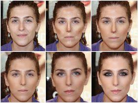 Aparichi Makeup Artist - Maquilladora Profesional: Blog de Maquillaje: Delineado intenso de ojos y contorneado del rostro: El Antes y Despué...