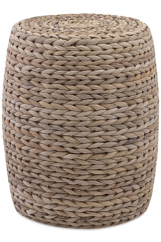 Crawford Banana Leaf Garden Stool - Wicker Stool - Woven Stool - Wicker Ottoman…