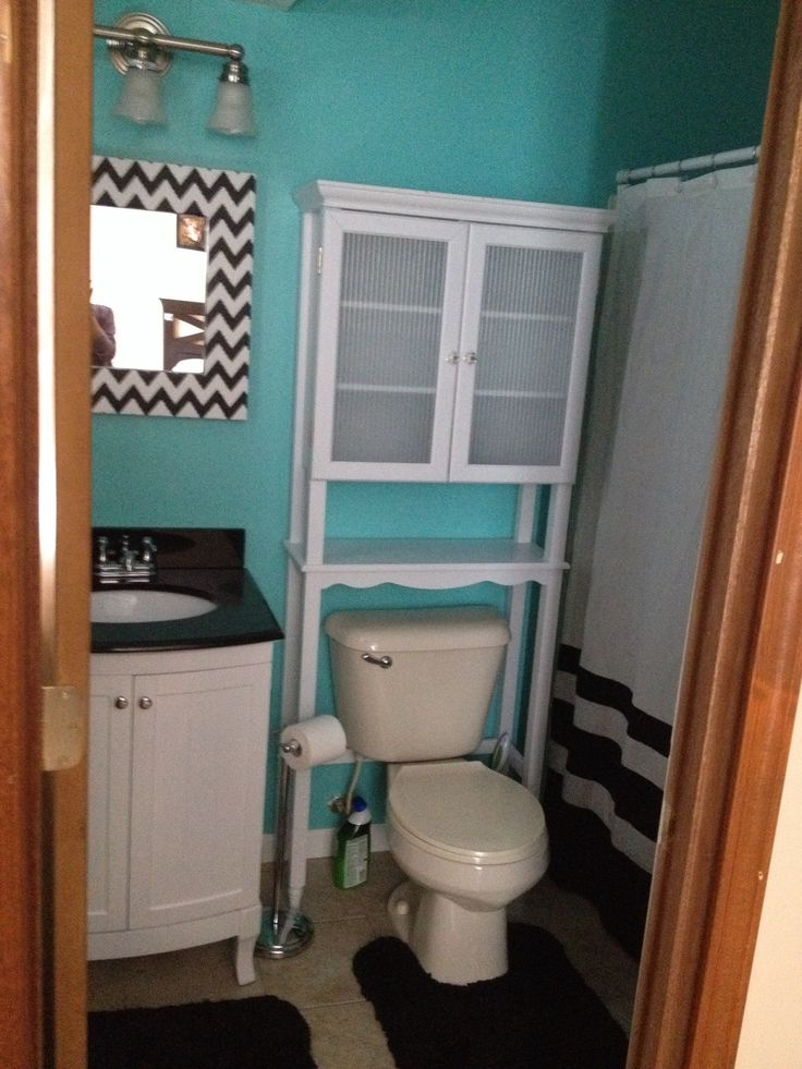 17 best images about bathroom ideas on pinterest teal for Teal and black bathroom accessories