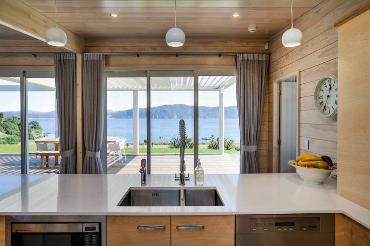 What a view! Lockwood kitchen with island. Verandah Plan.