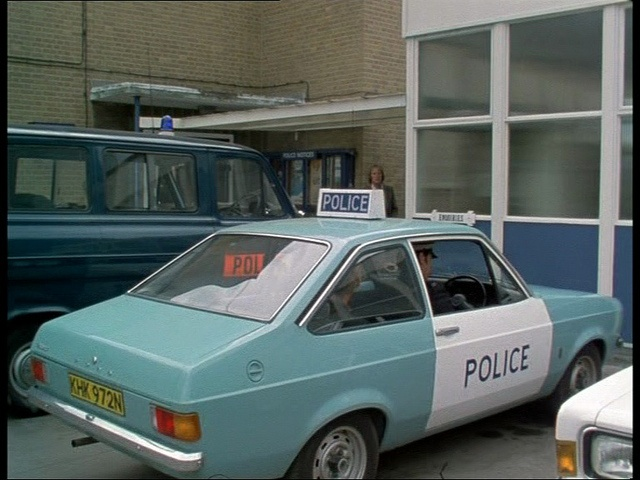 Police car 1976. Ford Escort mk2 - UK
