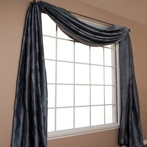 1000 ideas about long window curtains on pinterest for Long window curtain ideas