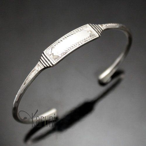 Bijoux Touareg Ethniques Bracelet Gourmette en Argent Homme/Femme 13