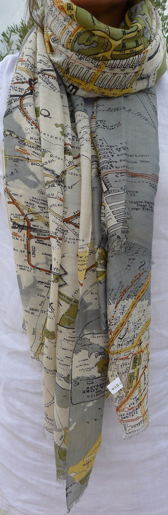 Map of New York Scarf