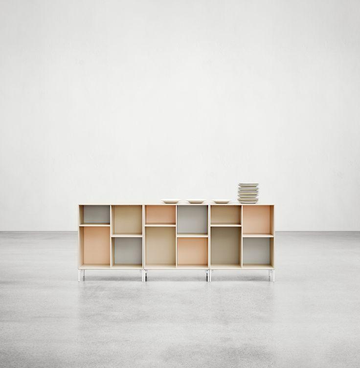 Beautiful pastels - the colours Milk, Peach and Frost. #montana #furniture #danish #design #interior #inspiration #storage #indretning #inredning #pastels #peach #milk