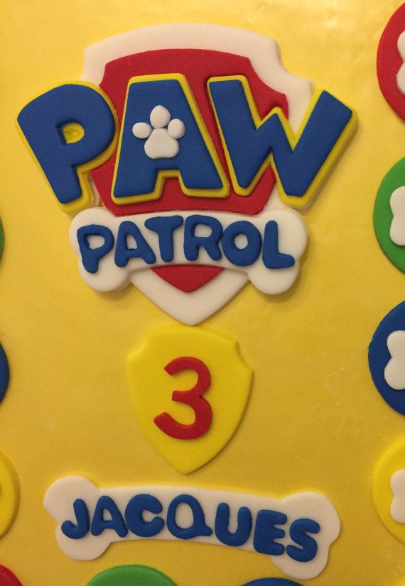 This listing is for - paw patrol logo badge - name - age