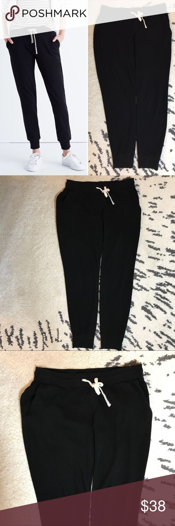 """Madewell Offline Slim Sweatpants I purchased these in December 2016 and am realizing these are too big for me. Madewell claims they run true to size but I think they are a bit large. I guess it depends on how tight/loose pants to be around the legs. Gently worn, great condition. No pilling; I don't think this type of fabric pills. Super comfortable. Made of 88% cotton and 12% polyamide. Still for sale on the Madewell website. Waist is ~ 15"""" without stretching the waistband and inseam is 30""""…"""
