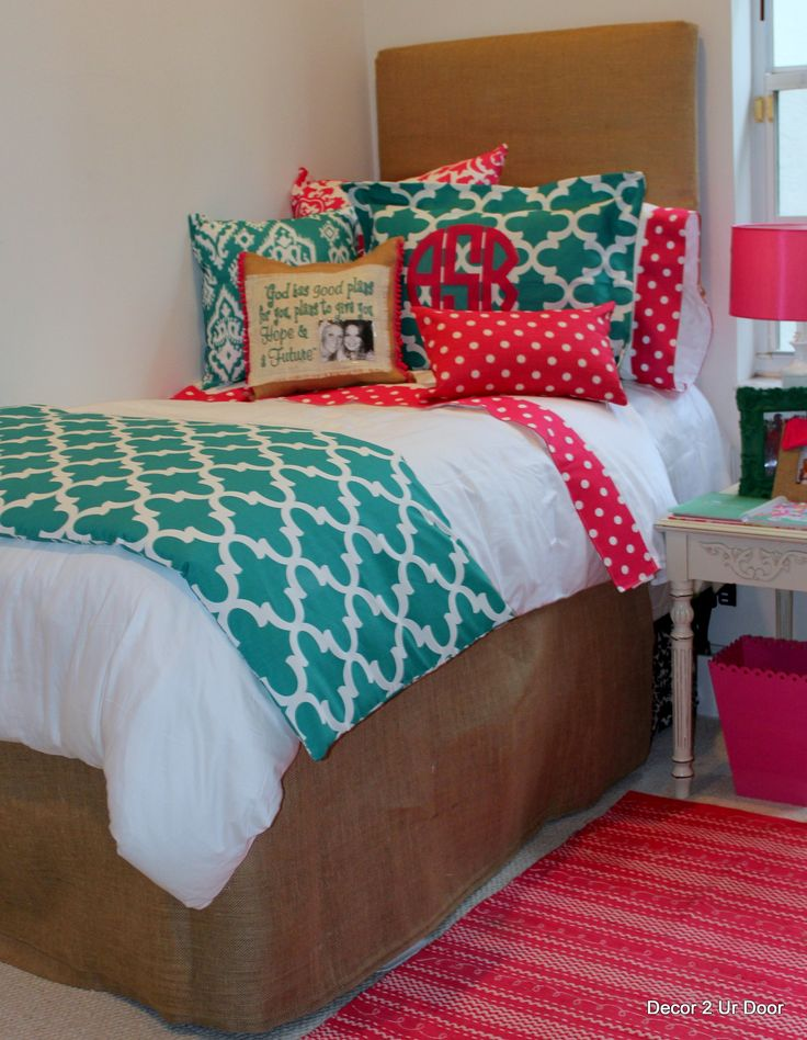 103 best images about dorm room on pinterest cute dorm rooms comforter and under bed - Cute teenage girl bedding sets ...