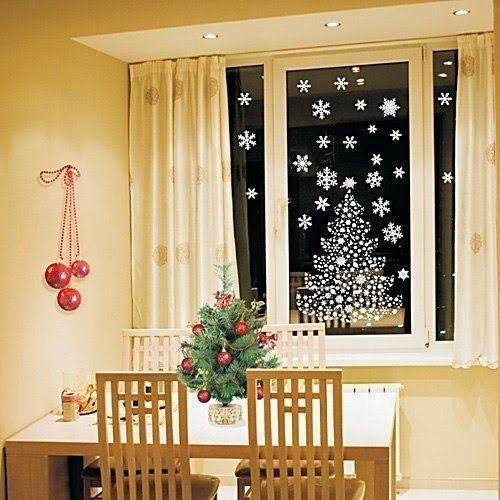 Resultado de imagen para decorar las ventanas navidad