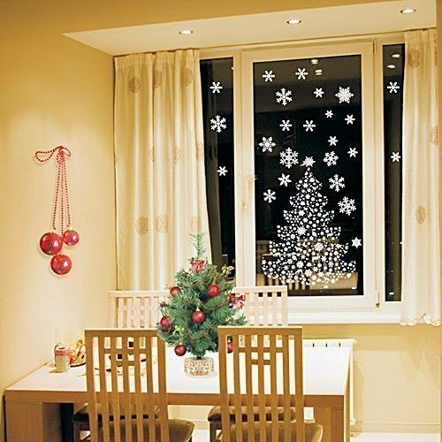 Las 25 mejores ideas sobre ventanas de navidad en for Adornos navidenos para exteriores