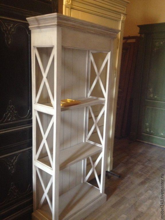 Купить Этажерка прованс с патиной - белый, этажерка, мебль прованс, стеллаж, белый стеллаж