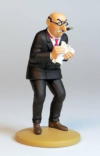 Tintin figurine numéro 90. Bohlwinkel ~ Référence de la figurine: L'Étoile mystérieuse, planche 26, case C3 Mr. Bohlwinkel est un homme d'affaires du pays fictif de São Rico en Amérique du Sud, qui figure dans 'L'Étoile mystérieuse'