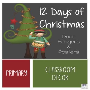 These images are sure to please all students and staff members at your school!  These whimsical door hangers are the cutest way to add a touch of WOW to your classroom door!  8.5 X 11 posters are also included to decorate your classroom with or to use as Props for Christmas concerts at your school!