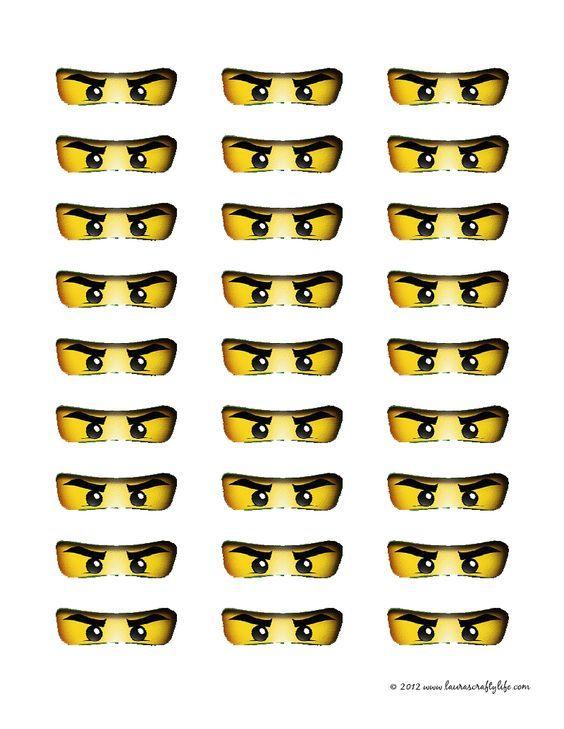Printable Ninjago Eyes