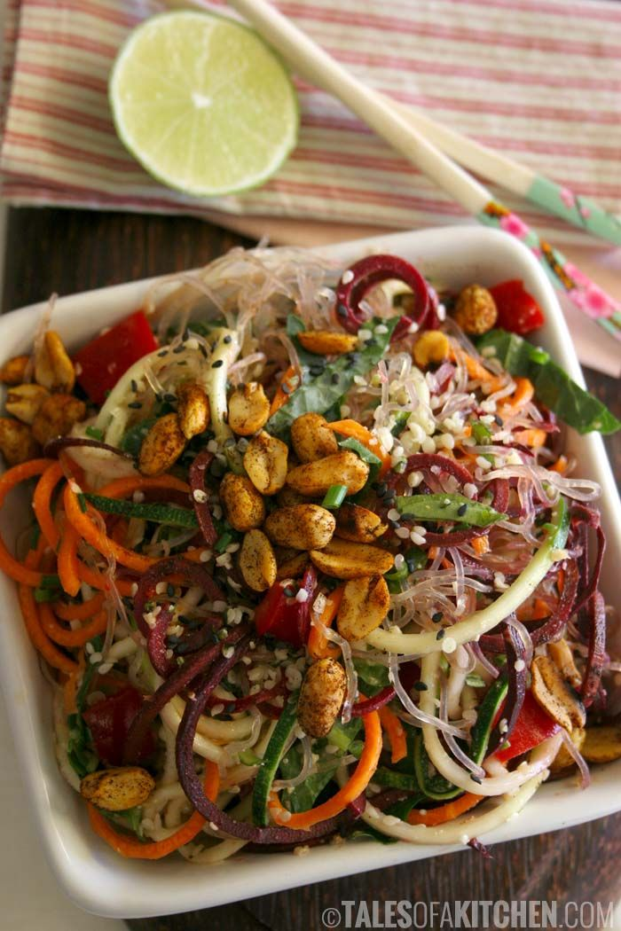 Noodles Super Bowl: an effortless fast meal with an explosion of flavor (raw, vegan).
