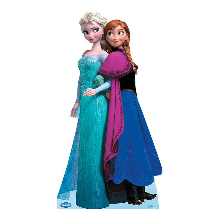 Disney Frozen Elsa & Anna Stand-Up - OrientalTrading.com - This would be a fun room decoration if you took it off of the stand and attached it to the wall.