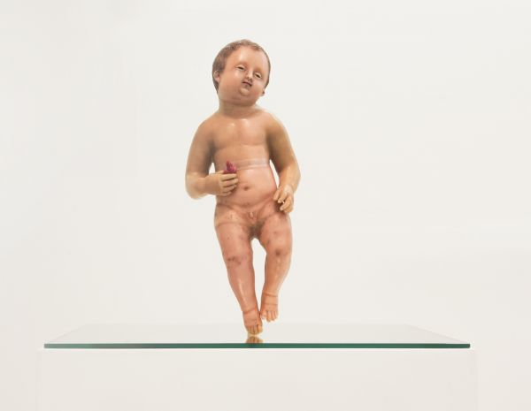 WAX. Bambinello, XIX secolo. Cera policroma. Foto Francesco Cuttitta. Francesco Pantaleone Arte Contemporanea / Wax