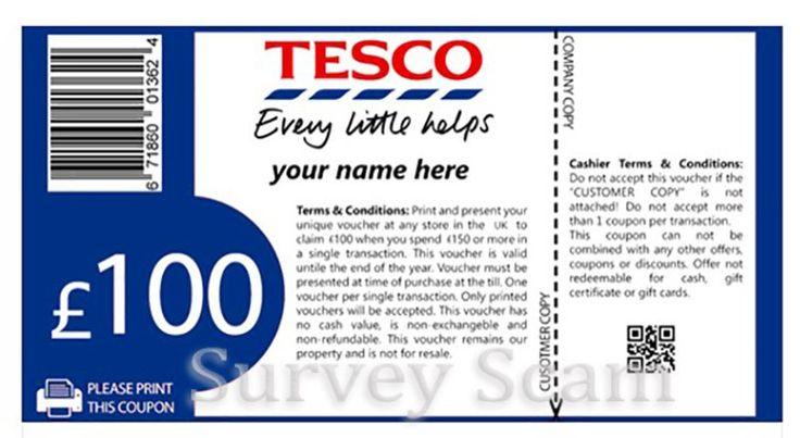 Yet Another Tesco 'Free Voucher' Survey Scam Hitting Facebook #scam #Tesco #Facebook
