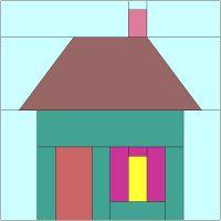 365 Paper Pieced Quilt Blocks: Block #39 - Little House