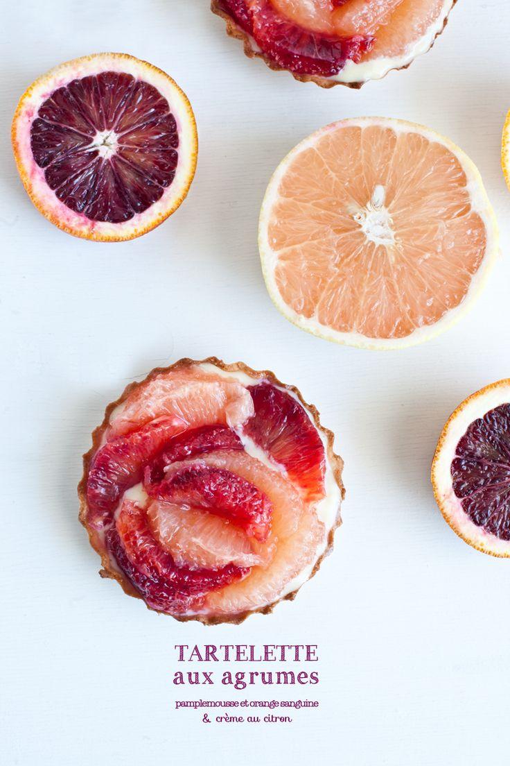 Tartelettes aux Agrumes // pamplemousse rose et orange sanguine & crème de citron