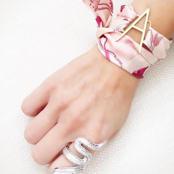 pink, antilope, bracelet, silk