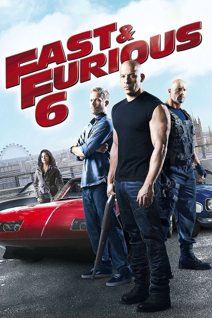 "Fast & Furious 6 (2013)  ""Furious 6"" (original title) PG-13 - Stars: Vin Diesel, Paul Walker, Dwayne Johnson.  -  Hobbs has Dominic and Brian reassemble their crew to take down a team of mercenaries: Dominic unexpectedly gets convoluted also facing his presumed deceased girlfriend, Letty.  - ACTION / CRIME / THRILLER"
