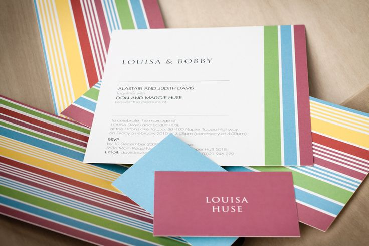 Wedding stationery design, including order of service, menu and place name cards for the beautiful Louisa & Bobby