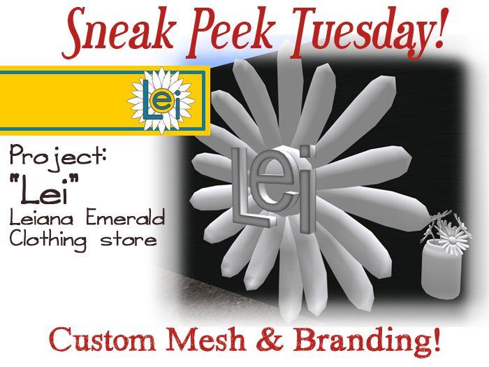 Oct.20,2015 Sneak Peak – Lei's Store – Custom contract logo and packaging