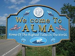 Alma, New Brunswick - Home Of The Highest Tides In The World