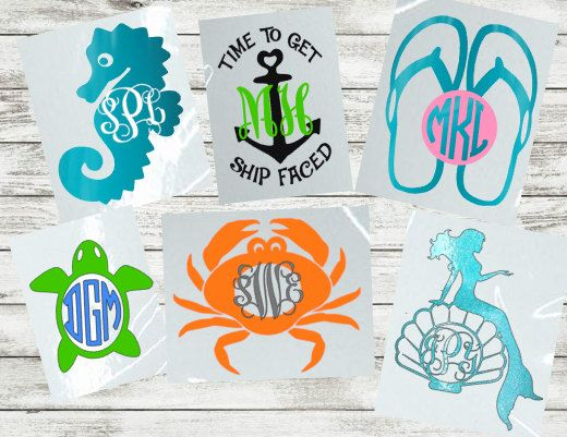 Summer Decals Car window decals Crab by JustVinylDesigning on Etsy