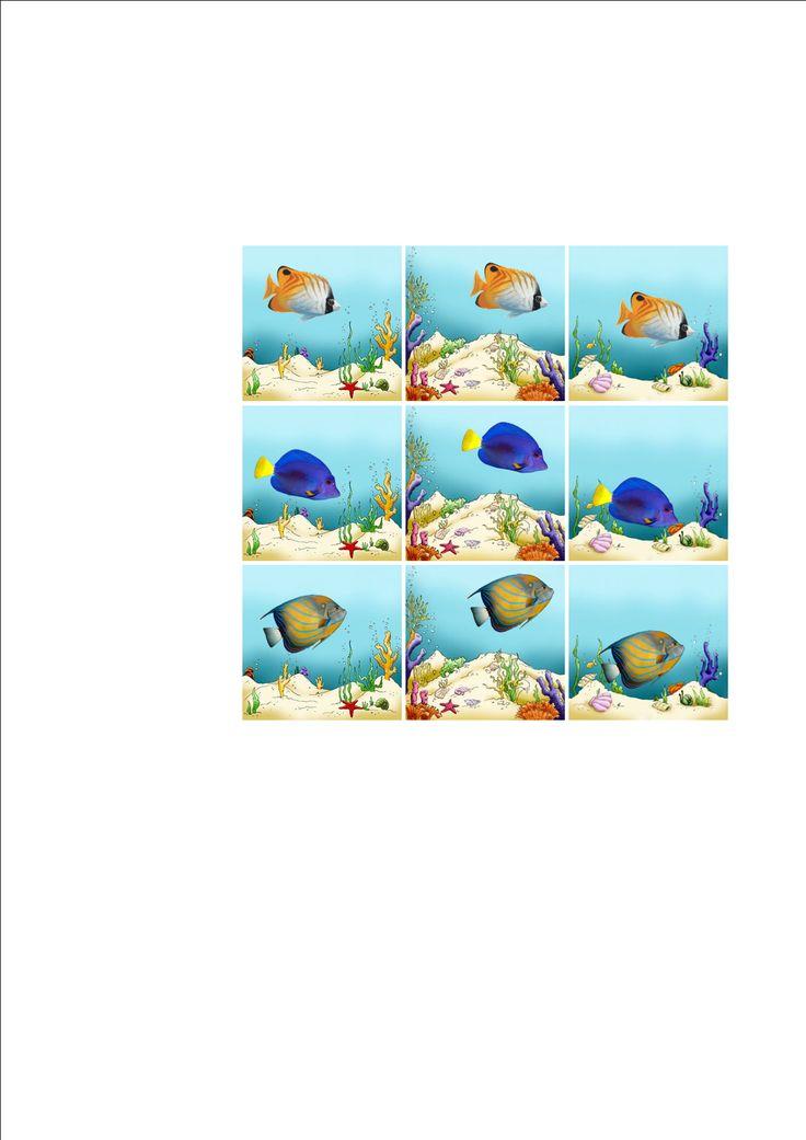 Tiles for the fish-sea matrix. By Autismespektrum