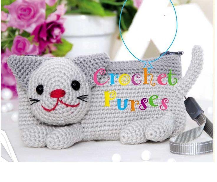 Patrones Crochet: Patron Crochet Bolsito Gato