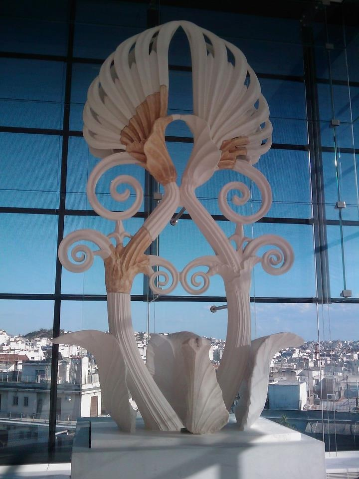#Acropolis #Museum #flower #sculpture #Greece #PloosDesign