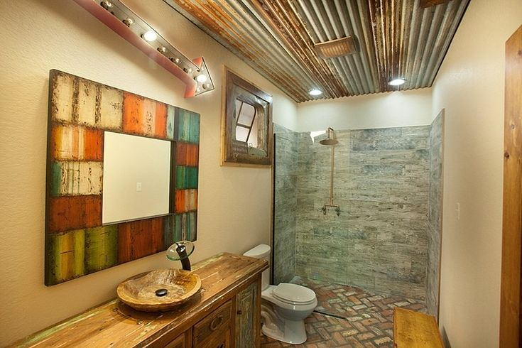Modern Rustic Residence by Wright-Built  ALL BATHROOMS EURO CONCEPT 'WET ROOM' FLOOR ANGLES INWARD TOWARD SHOWER + OUTSIDE SHOWER, DRAINS. ALL W BIDETS + 1 WITH SM WALL MOUNT URINAL MOST ALL ELSE END LOT, RECLAIMED, UNEXPECTED LOW COST MATERIALS, SALVAGED FROM DEMOLISH ION AT AKITCHEN/HOUSE RENOVATION.