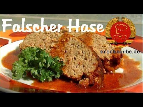 Falscher Hase (Hackbraten) - DDR Rezepte für ostdeutsche Gerichte zum Kochen, Backen, Trinken & alles über ostdeutsche Küche | Erichs kulinarisches Erbe