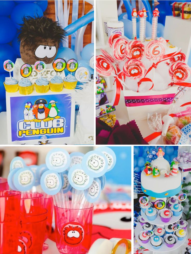 Disney's Club Penguin Themed Birthday Party - Kara's Party Ideas - The Place for All Things Party