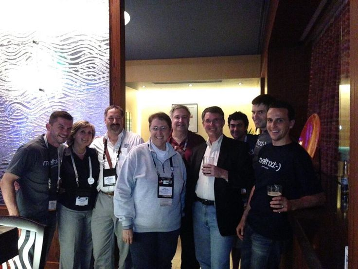 June 23, 2013 Some people never know when to call it a night. Always fun, the #snh2013 @Method CRM groupies