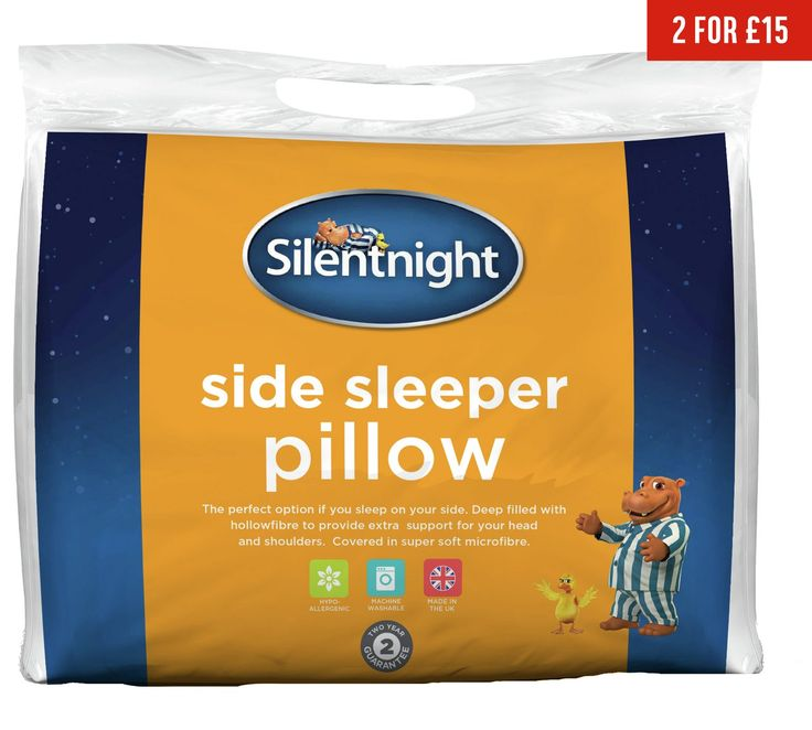 Buy Silentnight Side Sleeper Pillow at Argos.co.uk, visit Argos.co.uk to shop online for Pillows, Bedding, Home and garden