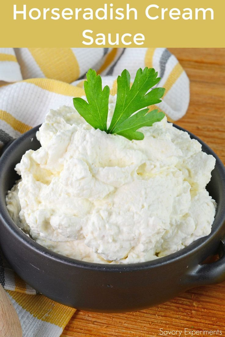 A fluffy Horseradish Cream Sauce is the perfect, light sauce for Prime Rib or to slather on a roast beef sandwich!